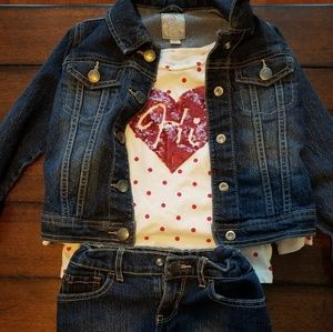 Girls size 5 Children's Place Jean Jacket Set